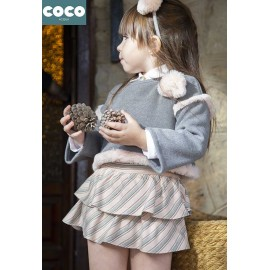 Coco Acqua Winter Girl Set Gray and Pink