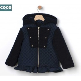 Coco Acqua Winter Girl Navy Duffle Coat