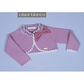 Cesar Blanco Winter Girl Short Jacket Pink Colour
