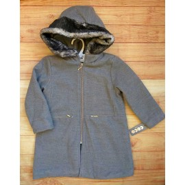 Coco Acqua Winter Girl Gray Mouflon Coat