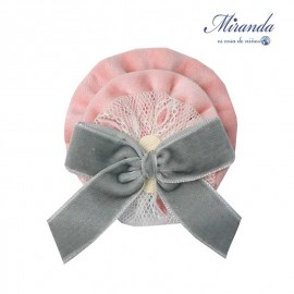 Miranda Winter Girl Pink and Gray Pin