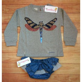 DiverDress Winter Girl Set Dragonfly Knickers