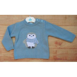 Sardon Winter Baby Blue Sweater Penguin