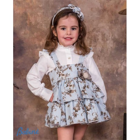 Babine Winter Girl Set with Striped Jumper