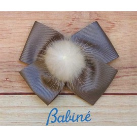 Babiné Winter Girl Pin Tie with Pompom