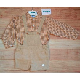 Cocote Winter Baby Boy Set Ocher
