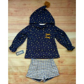 Coco Acqua Winter Girl Set Navy with Stars