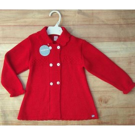 Juliana Winter Baby Girl Coat Rojo with Bonnet