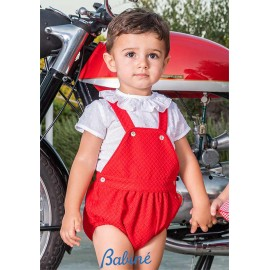 Babiné Summer Baby Boy Set with Romper White and Red