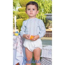 Babiné Summer Baby Boy Set Blue Stripes and White