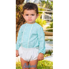 Babiné Summer Baby Boy Set Water Green with Spots