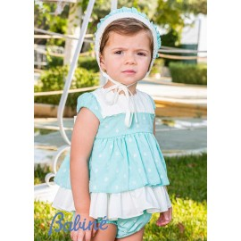 Babiné Summer Baby Girl Set Water Green with Spots