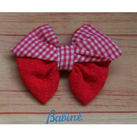 Babine Summer Girl Pin Red and White Tie