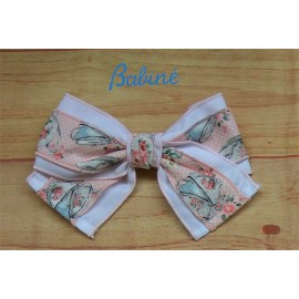 Babine Summer Girl Pin Pink and White Tie