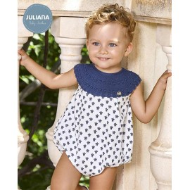 Juliana Summer Baby Boy Romper Turtles