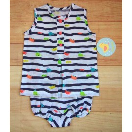 Pio Pio Summer Baby Boy Set Sea
