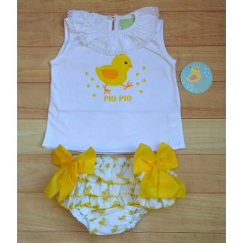 Pio Pio Summer Baby Boy Girl Set Chicks