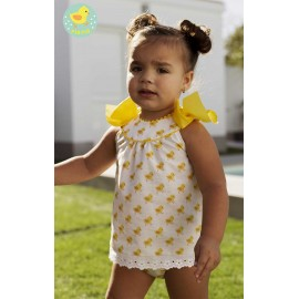 Pio Pio Summer Baby Girl Set Chicks with Dress
