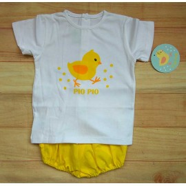 Pio Pio Summer Baby Boy Set Chick