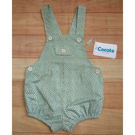 Cocote Summer Baby Boy Romper Green with Spots