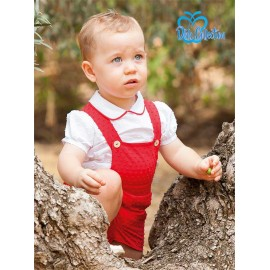 DBB Collection Summer Baby Boy Set with Red Romper
