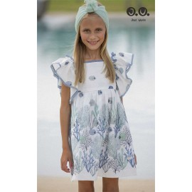 José Varón Summer Girl Dress Fishes