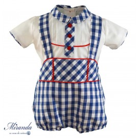 Miranda Summer Baby Boy Set Electric Blue Squares