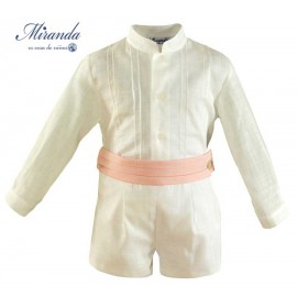 Miranda Summer Baby Boy Set Ceremony White and Pink