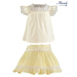 Miranda Summer Girl Beige and Yellow Set Ceremony