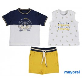 Mayoral Summer Baby Boy Set 3 Pieces Tiger