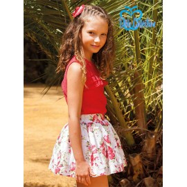 DBB Collection Summer Girl Set Red and Flowers