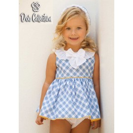 DBB Collection Summer Baby Girl Set Blue Squares