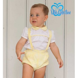 DBB Collection Summer Baby Boy Set Yellow White Trees