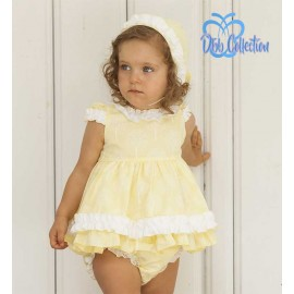 DBB Collection Summer Baby Girl Set Yellow White Trees