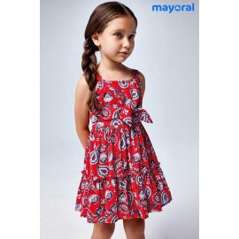Mayoral Summer Girl Dress Red Cachemir