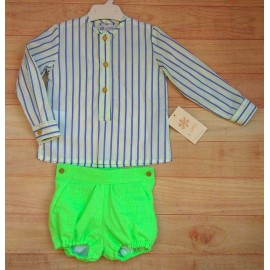 Creaciones Copo Summer Baby Boy Set Fluorescent