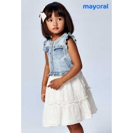 Mayoral Summer Girl Dress Combined with Denim