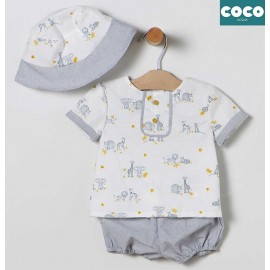 Coco Acqua Summer Baby Boy Set Animals