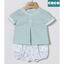 Coco Acqua Summer Baby Boy Set Stripes and Turtles