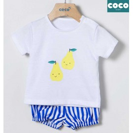 Coco Acqua Summer Baby Boy Set Lemons