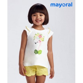 Mayoral Summer Girl Set Flamingo