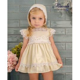 Miranda Summer Baby Girl Yellow Dress Ceremony