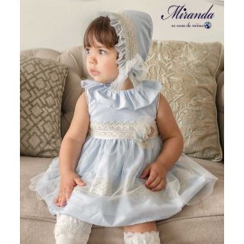 Miranda Summer Baby Girl Blue Dress Ceremony