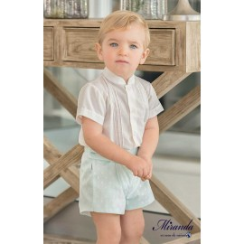 Miranda Summer Baby Boy Set Ceremony Green