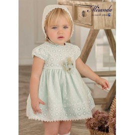 Miranda Summer Baby Girl Green Dress Ceremony