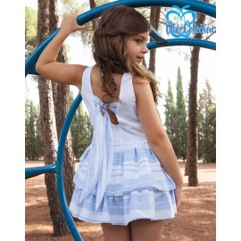 DBB Collection Summer Girl White Dress and Blue Stripes