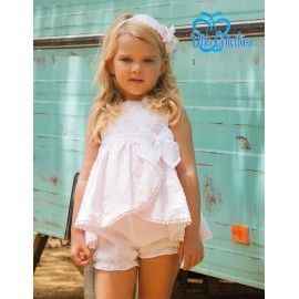 DBB Collection Summer Baby Girl Set Pink and White