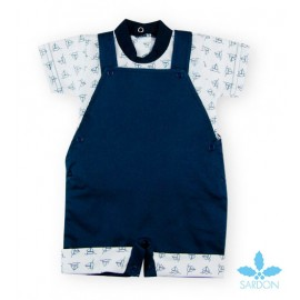 Sardon Summer Baby Boy Set with Romper Boats
