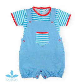 Sardon Summer Baby Boy Set with Blue Romper