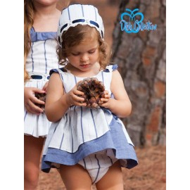DBB Collection Summer Baby Girl Set White and Blue